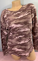 NWT victoria's Secret PINK long Sleeve Thermal Camouflage Graphic Tee Shirt M