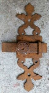 Antique Large Catch Wrought Iron Bolt 7/8in