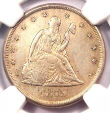 1875-CC Twenty Cent Piece 20C - NGC AU Details - Rare Carson City Coin!