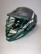 Cascade R Adult Adjustable Chin Strap Padded Lacrosse Helmet Gray Green