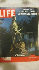 Life Magazine May 23rd 1960 The Minuteman On Lexington Published By Time   mg675
