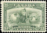 Mint NH Canada 13c 1932 F+ Scott #194 Britannia Economic Conference Stamp
