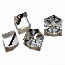 Vintage Crystal Cube 6mm Earring Square Swarovski Comet 12 Pcs Argent 4841