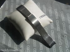 SEIKO 19mm Original 1970s Reloj Correa de Pulsera de malla Stelux Curvado Extremos