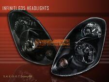 FIT FOR 2003-2004 INFINITI G35 SEDAN 4D/4DR JDM BLACK HEADLIGHTS