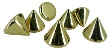 Gold Acrylic Cone Spike Loose Beads Spots Punk Pyramid Bracelet Leather Craft