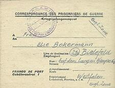 POW Camp 132 Tronçais France 1946 German Prisoner of War Kriegsgefangenenpost 9