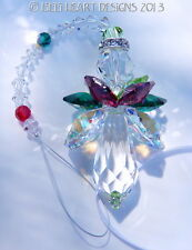m/w Swarovski Crystal New Large Christmas Angel Suncatcher Lilli Heart Designs