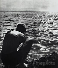 1933/88 Vintage Germany SEMI NUDE MALE Boy Seascape Photo Gravure ~ HERBERT LIST
