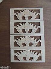 S.Carved Wood Panel 4pcs/set w Bat