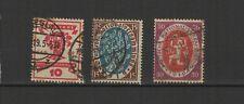 Allemagne 1919/20 Deutsches Reich 3 timbres oblitérés / T2493
