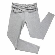 Joy Lab Womens Yoga/Workout Pants Full Length Leggings Ruched Waist Gray Sz. XL