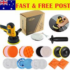 125mm Rotary Car Polisher Buffer Polishing Machine Buffing Pads Bonnet Towel Kit