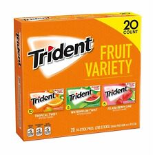 Trident Sugar-Free Gum Fruit Variety Pack 20 Count - GUARANTEED FRESH PRODUCT !