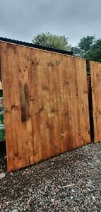 Vertical Close Board Feather Edge Fence Panels 6ftX6ft