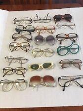 Lot Of Assorted Vintage Round Rim + Cat Eye Eyeglasses + Sunglasses Estate 19pcs