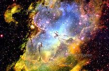 Poster Print BDLS 24x36: Pillars Of Creation, Eagle Nebula M16 - Wide Field View