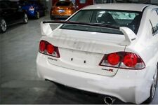 Sport Style Spoiler Wing for 2006-2011 Honda Civic 4DR Sedan Plastic 3pcs