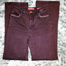 NYDJ NOT YOUR DAUGHTERS BLACK JEANS crystal detail Size 32 Waist Leg 32