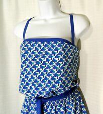 """L'Ondine Vintage 1pc Swimsuit Romper Blue Turquoise Geometric Union Label 36-40"""""""