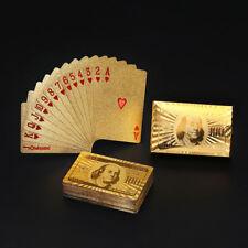 Golden Playing Cards Deck gold foil poker set Magic card Gold Plastic foil poker