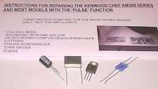 Kenwood Chef Mixer 'Pulse' Speed Control Module Repair Kit & Instructions KM300
