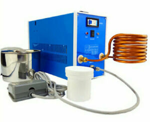 220V 1700° 2800W High-frequency Induction Heating Silver Gold Melting Furnace US