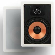 "Micca M-8S 8 Inch 2-Way In-Wall Speaker with Pivoting 1"" Silk Dome Tweeter Each,"