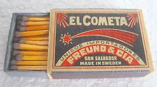 EL COMETA - SAFETY MATCHES, MADE AT TIDAHOLM, SWEDEN