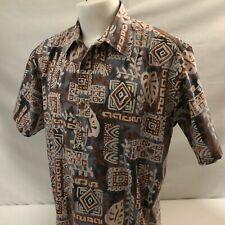 10f7ae4e Ono & Co Liberty House Pullover Hawaiian Aloha Shirt XL Tapa 100% Broadcloth