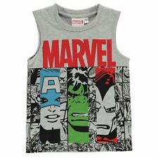 Character Kids Boys Vest Infant Tank Top Sleeveless Crew Neck Print