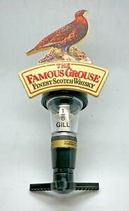 VINTAGE FAMOUS GROUSE WHISKY 1/6th GILL OPTIC - PUB HOME BAR SPIRIT DISPENSER