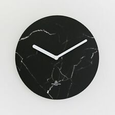 SECOND MANSION Modern Wall Clock Object Clock Mono Simple design - Black Marble