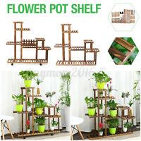 Wooden Succulent Flower Pot Plant Stand Indoor Balcony Floor Stand Garden
