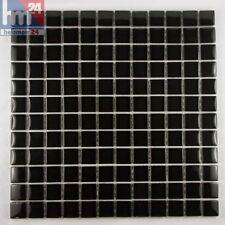 Mosaico de vidrio Negro montaña Azulejos 29 , 5x29, 5x0, 8cm Pool, baño, cocina