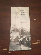Vintage 1960's Fort Ticonderoga Fort Carillon New York Brochure