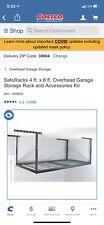 SafeRacks 4ft x 8ft Overhead Garage Storage Rack & Accesories Kit