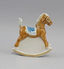 Porcelain Money Box Rocking Horse Blue Wagner & Apel H16Cm 9942655