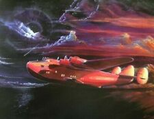 CANVAS Giclee PAN AM CLIPPER 20X26 VANCAS Boeing 314 Flying Boat Aviation Signed