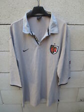 Polo rugby STADE TOULOUSAIN Toulouse NIKE shirt manches 3/4 beige XL