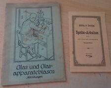 Glasbläser Spritz Arbeit Glasapparate Geräte Glas Abbildungen Glasrohr Pinzette
