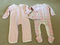 Burts Bees Baby Girl Clothing Lot 6-9 Organic 12 Months Pink