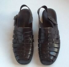Womens Brown Sling Back Sandals by Predictions size 8 1/2