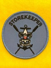 """Boy Scouts - Sea Scouts """"Storekeeper"""" round blue position patch"""