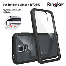 Genuine RINGKE FUSION Case slim soft bumper Cover for Samsung Galaxy S5 Black