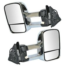 Extendable Caravan Towing Mirrors FOR TOYOTA LANDCRUISER 100 Series Chrome