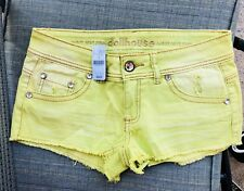 BRAND NEW Women's Dollhouse Denim Short Shorts Destroyed Stretch Low Rise Size 7