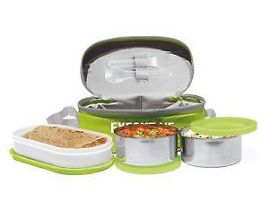 Milton Executive Lunch Box Soft Insulated Tiffin Box green