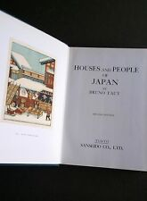 Houses and People of Japan | Bruno TAUT | Japanese Architecture Modernism RARE