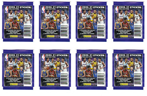 Lot of (8) 2020-21 Panini NBA Sticker Collection Packs - 40 total Factory Sealed